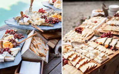 Pon un corner de quesos en tu boda