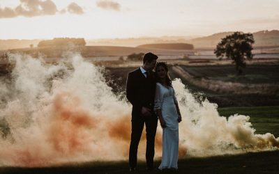 Bombas de humo en las bodas: tendencia 2019